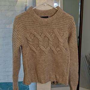 Cozy pale pink Merino wool BR sweater